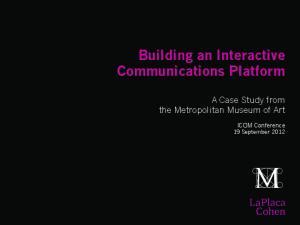 Building an Interactive Communications Platform