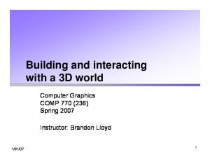 Building and interacting with a 3D world