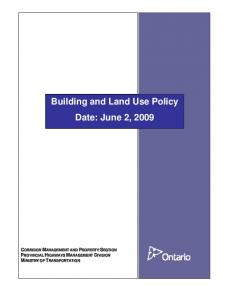 Building and Land Use Policy Date: June 2, 2009