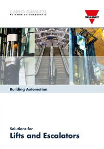 Building Automation. Solutions for Lifts and Escalators