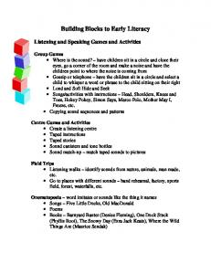 Building Blocks to Early Literacy