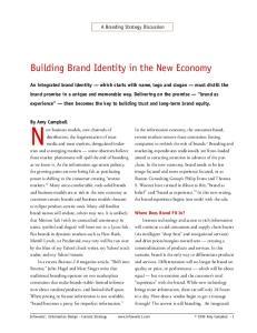 Building Brand Identity in the New Economy