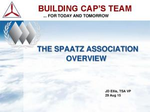 BUILDING CAP S TEAM... FOR TODAY AND TOMORROW