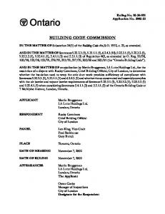 BUILDING CODE COMMISSION