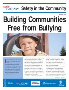 Building Communities Free from Bullying
