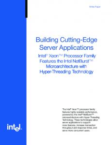 Building Cutting-Edge Server Applications