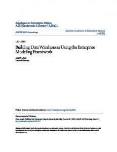 Building Data Warehouses Using the Enterprise Modeling Framework