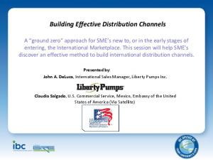 Building Effective Distribution Channels