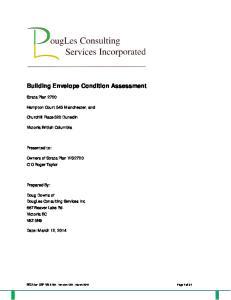 Building Envelope Condition Assessment