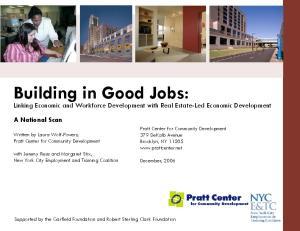 Building in Good Jobs: