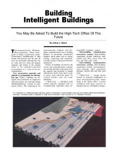 Building Intelligent Buildings