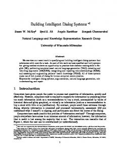 Building Intelligent Dialog Systems