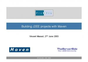 Building J2EE projects with Maven