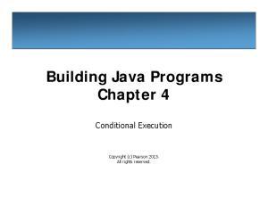 Building Java Programs Chapter 4