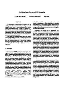 Building Low-Diameter P2P Networks