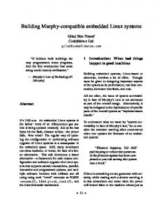 Building Murphy-compatible embedded Linux systems