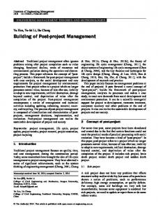 Building of Post-project Management