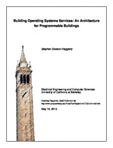 Building Operating Systems Services: An Architecture for Programmable Buildings