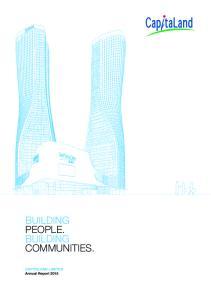 BUILDING PEOPLE. BUILDING COMMUNITIES