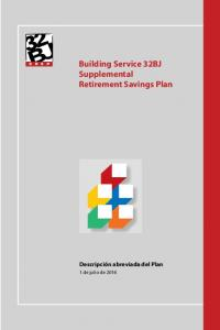 Building Service 32BJ Supplemental Retirement Savings Plan