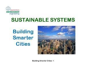 Building Smarter Cities. Building Smarter Cities- 1