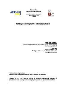 Building Social Capital for Internationalization