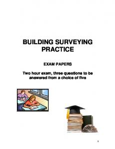 BUILDING SURVEYING PRACTICE EXAM PAPERS
