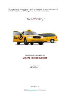 Building Taxicab Business