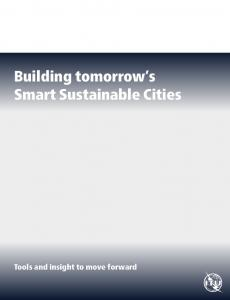 Building tomorrow s Smart Sustainable Cities