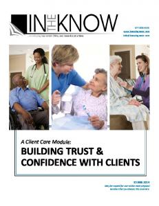BUILDING TRUST & CONFIDENCE WITH CLIENTS