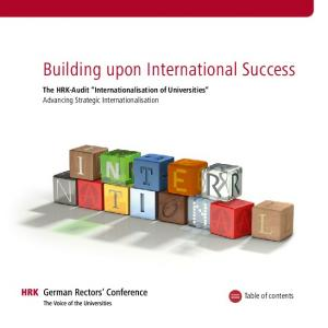 Building upon International Success