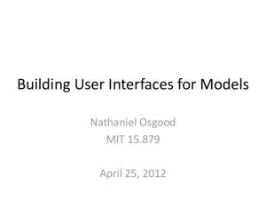 Building User Interfaces for Models