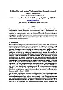 Building Wind Loads based on Wind Loading Chain: Comparative Study of Eastern Asia Standards