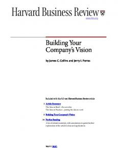 Building Your Company s Vision