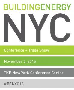 BUILDINGENERGY NYC. Conference + Trade Show. November 3, TKP New York Conference Center #BENYC16