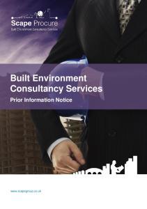 Built Environment Consultancy Services Prior Information Notice