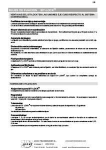 BUJES DE FIJACION SIT-LOCK