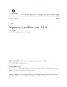 Bulgarians and Jews throughout History