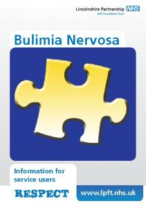 Bulimia Nervosa Information for service users