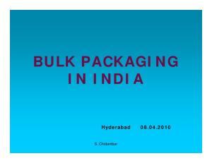 BULK PACKAGING IN INDIA