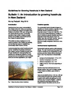 Bulletin 1: An introduction to growing hazelnuts in New Zealand