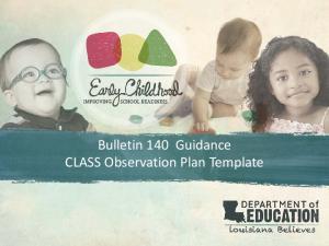 Bulletin 140 Guidance CLASS Observation Plan Template