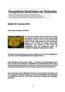 Bulletin 29 Sommer 2013