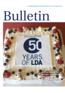 Bulletin. 50 years of advocating for better outcomes for students with learning difficulties