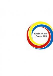 Bulletin Nr. 343 Februar 2014