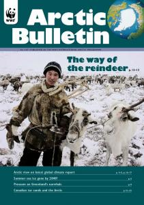 Bulletin. The way of the reindeerp