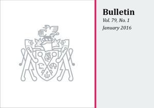 BULLETIN, VOL. 79, NO. 1, JANUARY
