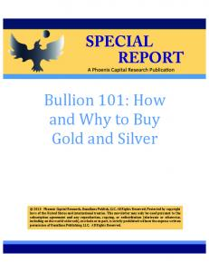 Bullion 101: How and Why to Buy Gold and Silver