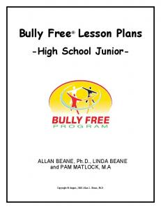 Bully Free Lesson Plans