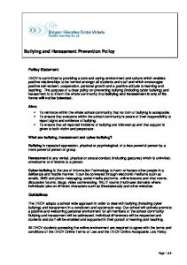 Bullying and Harassment Prevention Policy